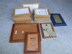 Lot De Cadre : photo donne lot de cadres photos en pin et bois taille ~ Teatrodelosmanantiales.com Idées de Décoration