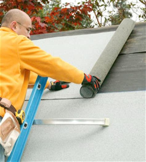 installing roll roofing   install specialty roof