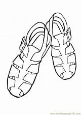 Coloring Pdf Sandals Template Boots Cars Sketch sketch template
