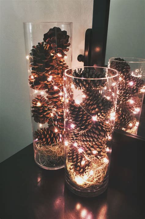 simple and inexpensive december centerpieces made these