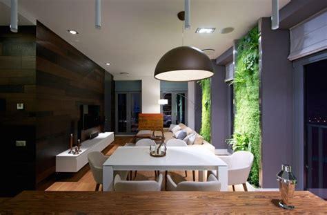 Vertical Garden Walls Bring Vibrant To A Contemporary Apartment Interior by Vertical Garden Walls Add To Apartment Interior