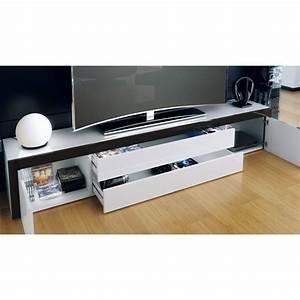 Meuble Bas Blanc Laqué : meuble bas laqu blanc blanc gris ~ Edinachiropracticcenter.com Idées de Décoration