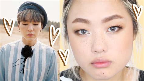Jimin Freckles Faux Freckles Make Up Bts Suga Inspired Youtube