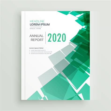 abstract green business book cover page or brochure