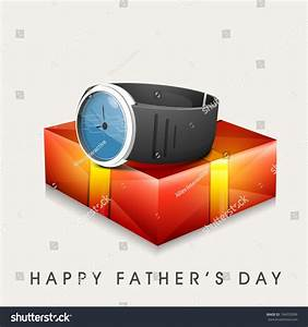 Happy Fathers Day Celebration Greeting Card Stock Vector ...
