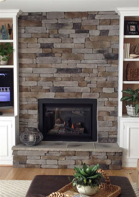 create  stacked stone fireplace    budget