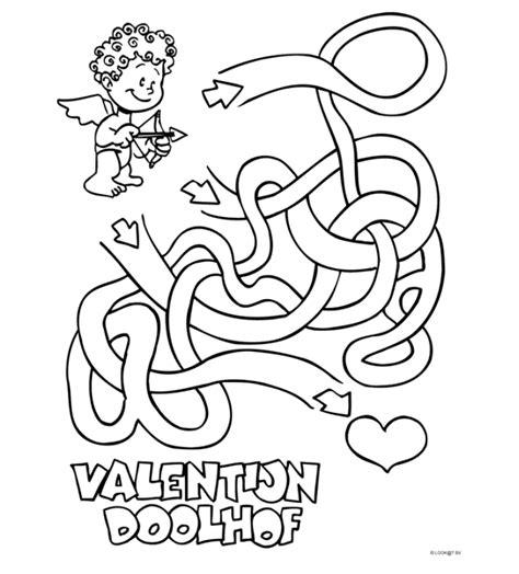 Doolhof Spelletjes Kleurplaat by Doolhof Kleurplaten Nl Valentijn Puzzels Arabic