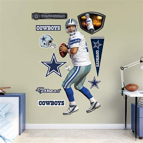 life size tony romo home wall decal shop fathead 174 for