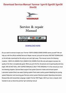 Download Service Manual Yanmar 1gm10 2gm20 3g By Doria