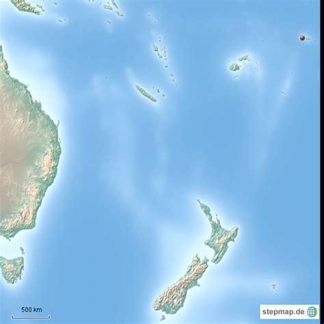 suedpazific von benno landkarte fuer fidschi