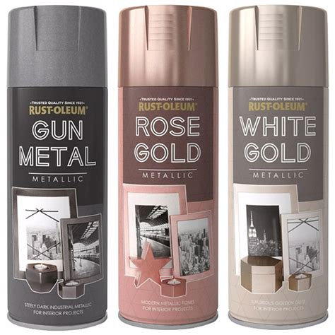 Rustoleum 400ml Metallic Finish Spray Paint  Gun Metal