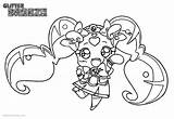 Glitter Force Coloring Pages Chibi Printable Adults Popular sketch template