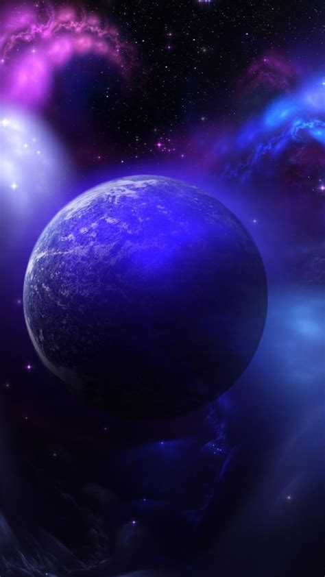 space blue purple wallpapersc smartphone