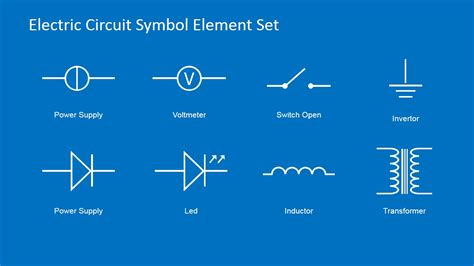 circuit template picture electric circuit symbols element set for powerpoint