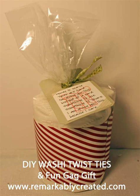 diy washi twist tie  toilet paper gag gift remarkable
