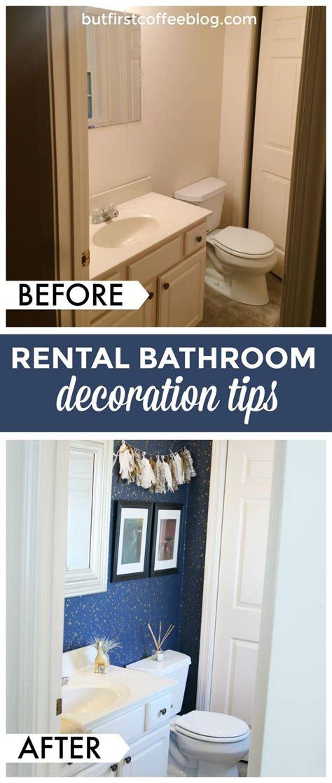 decorate  rental space bathroom rental decor