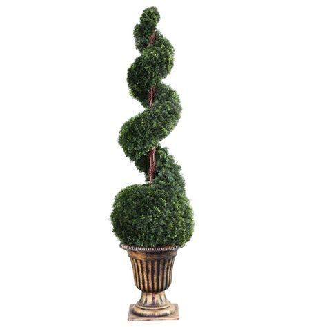 National Tree Company 66 In Cedar Spiral Tree With Ball