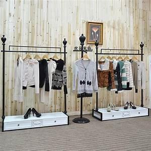 2018 Clothing Store Display Hanger / Wedding Dress Rack / Clothing Store Shelf Floor Coat Hanger ...