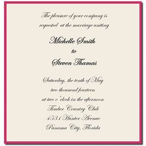 Wedding Invitation Sample Wording Template Best Template