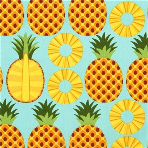 funky outdoor rugs aqua pineapple fruit fabric timeless treasures from the