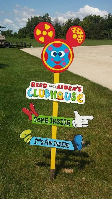 mickey mouse clubhouse birthday  sign reed