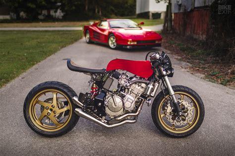 A Honda Cafe Racer Inspired By A Ferrari