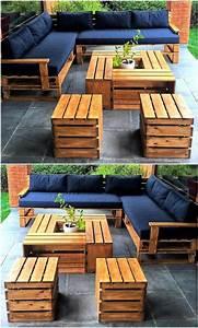 Coussin Pour Salon De Jardin En Palette : 1001 id es pour des meubles de jardin en palettes ~ Dailycaller-alerts.com Idées de Décoration
