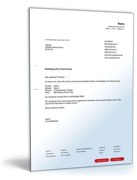 Hotelreservierung email vorlage tagung : Hotelreservierung Zimmerreservierung Muster Kostenlos