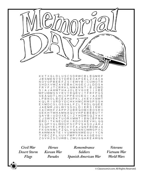Free Memorial Day printables for kids, including ...