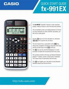 Quick Start Guide  Fx 991ex  Fx570ex  Casio All Casio Fx
