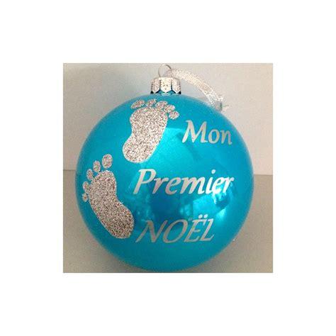 deco mon premier noel boule bleu mon premier noel b 233 b 233