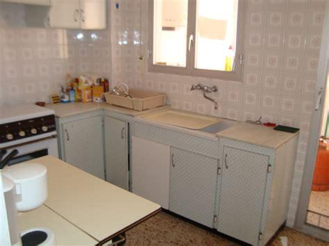 cuisine ancienne repeinte peinture meuble cuisine lisse peinture