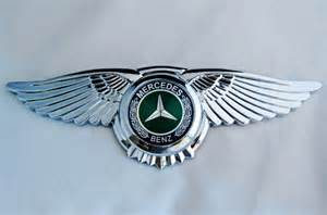 Mercedes Benz Badge Car Logo wings 3M Front Hood Bonnet ...