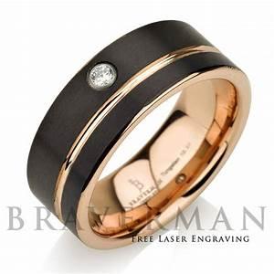 Mens Wedding Rings Rose Gold Wedding Promise Diamond
