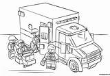 Lego Pages Ambulance Coloring Printable Dolls Toys sketch template