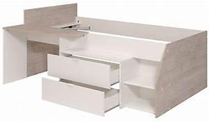 Lit Sureleve Enfant : lit sur lev milky gris loft blanc ~ Teatrodelosmanantiales.com Idées de Décoration