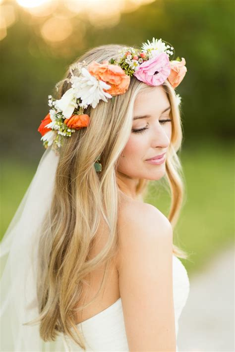 boho chic wedding hairstyles   pretty designs