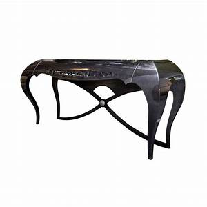 Console Baroque Noire : console baroque de luxe noire 1 tiroir meuble d 39 entr e ~ Teatrodelosmanantiales.com Idées de Décoration