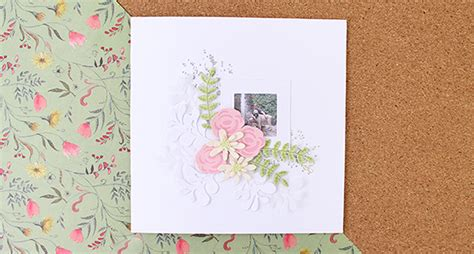 How To Make A Layered Floral Frame Card