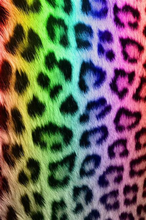 Colorful Animal Print Wallpaper - rainbow leopard print colorful wallpaper