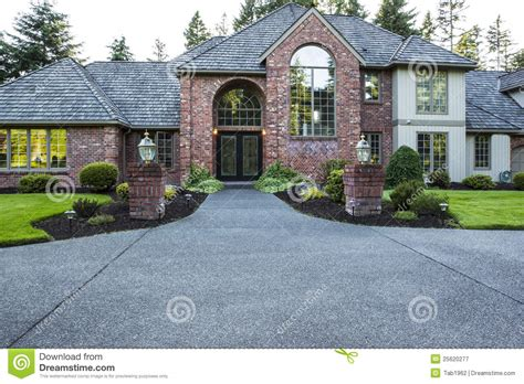 Brick and wood House stock image Image of doors, clean
