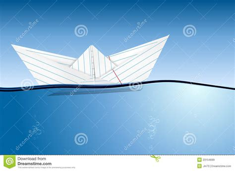 Origami Boat In Water by Origami Paper Boat On Water Level Royalty Free Stock