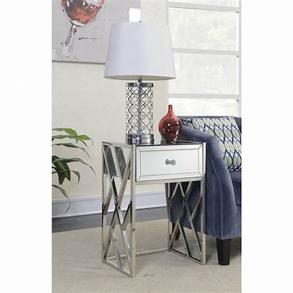 Side Mirrored Table Pacific Homesdirect365