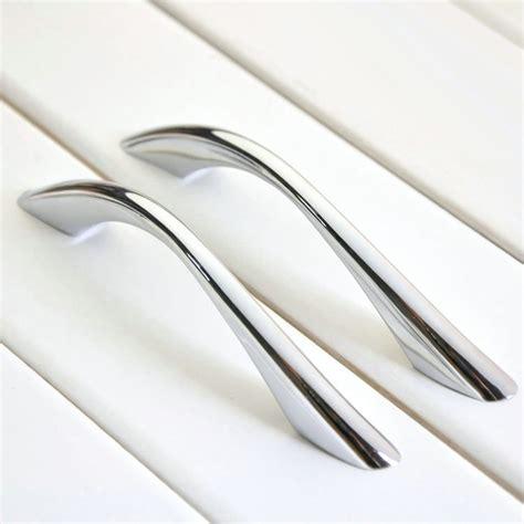 chrome kitchen cabinet handles aliexpress buy shine silver modern furniture handle 5418