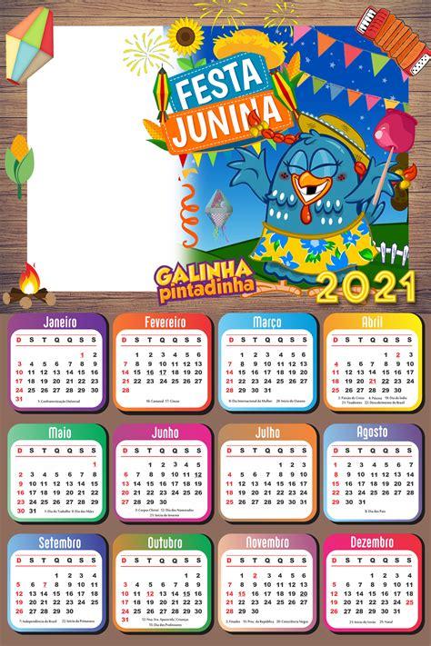 Calendário 2021 Arraiá da Galinha Pintadinha Imagem