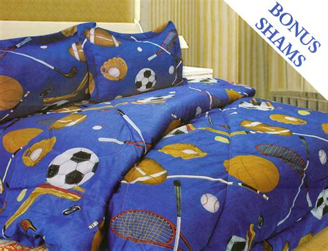 sports balls football soccer bedding comforter sham set