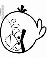 Coloring Angry Birds Bird Space Slingshot Printable Template Orange Popular Sheets Library Clipart Draw sketch template