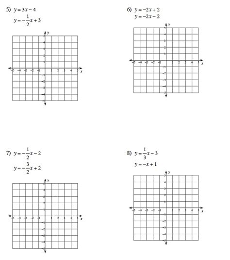 solving linear equations by graphing worksheet answers