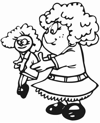 Coloring Doll Pages Playing Popular Getcoloringpages Coloringhome