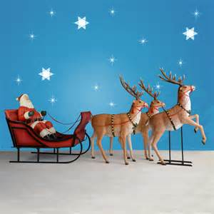170 quot wide giant santa sleigh three reindeer set
